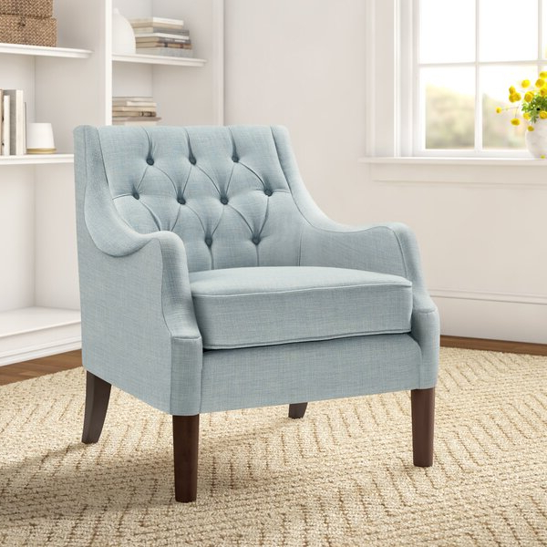 Allis Tufted Polyester Blend Wingback Chairs With Favorite Galesville (View 10 of 30)