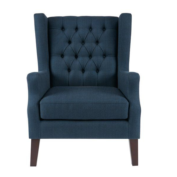 Allis Tufted Polyester Blend Wingback Chairs Within Current This Classic Wing Chair With Its Button Tufted Detailing And (View 23 of 30)
