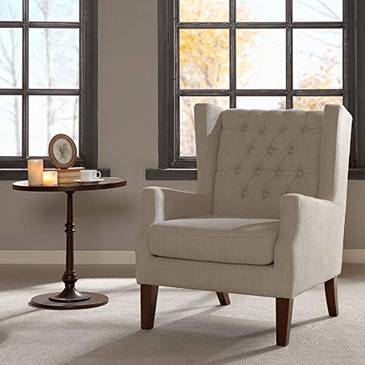 Allis Wingback Chair, Overall: 39.75'' H X 30.375'' W X (View 7 of 30)