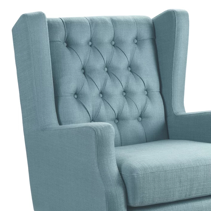 Allis Wingback Chair – Tax Life Within Current Allis Tufted Polyester Blend Wingback Chairs (View 18 of 30)
