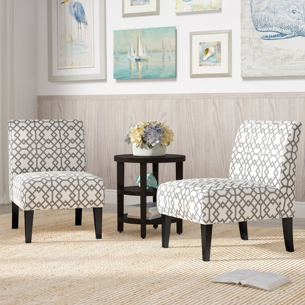Alush Accent Slipper Chairs (set Of 2) Regarding Preferred 2 Accent Chairs (View 2 of 30)