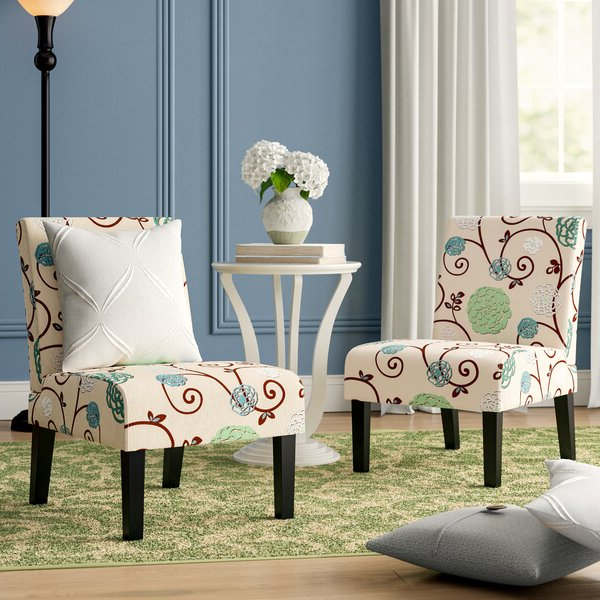 Alush Accent Slipper Chairs (set Of 2) With Most Recently Released Rivoli Slipper Chair (View 8 of 30)