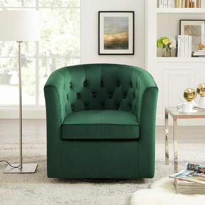 Alwillie Tufted Back Barrel Chairs Within Recent Haglund Swivel Barrel Chair – Wayfair (View 16 of 30)