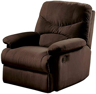 Amazon: Dallin Microfiber Recliner (brown): Kitchen & Dining Pertaining To 2019 Dallin Arm Chairs (View 12 of 30)