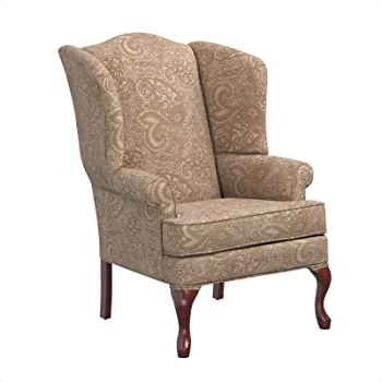 Amazon: Tanya Chagnon Wingback Chair: Kitchen & Dining Intended For 2020 Chagnon Wingback Chairs (View 14 of 30)