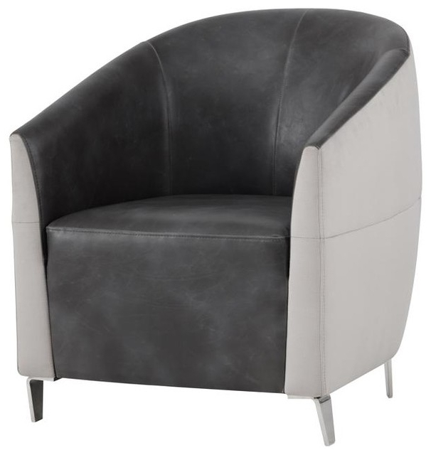 Ambrosi Armchair – Piccolo Dove Fabric / Overcast Grey Within Most Current Barnard Polyester Barrel Chairs (View 20 of 30)