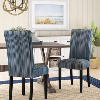 Andover Millstm Nava Upholstered Dining Chair Andover Mills Upholstery Color: Teal Regarding Popular Munson Linen Barrel Chairs (View 21 of 30)