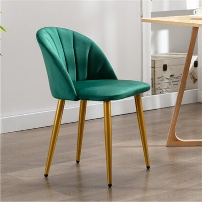 Angels Velvet Upholstered Side Chair Upholstery Color: Green Throughout Recent Daulton Velvet Side Chairs (View 22 of 30)