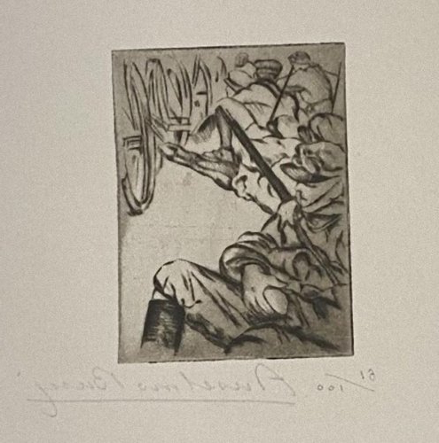 Anselmo Bucci, Military, Etching, 1917 In Well Known Bucci Slipper Chairs (View 13 of 30)