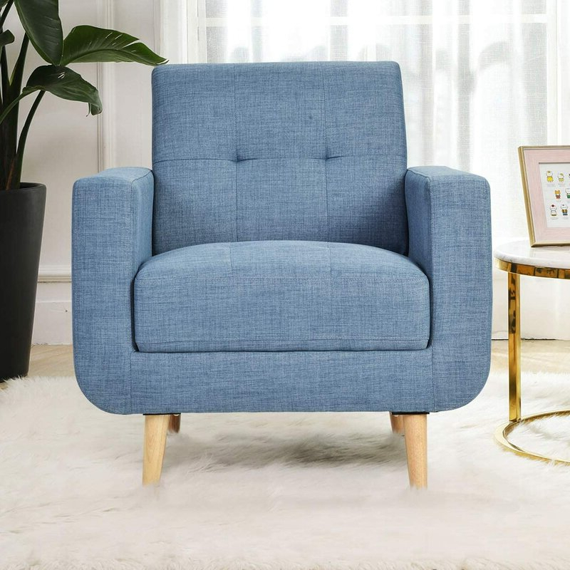 Antonelli Armchair Regarding Most Current Galesville Tufted Polyester Wingback Chairs (View 15 of 30)