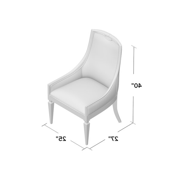 Arm Chair In Medium Wood Regarding Popular Ronald Polyester Blend Armchairs (View 22 of 30)
