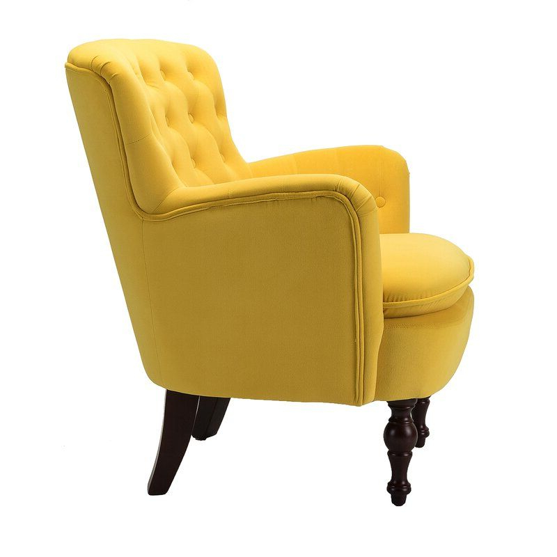Armchair, Yellow Accent (View 29 of 30)
