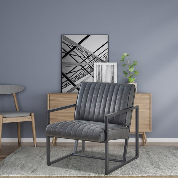 """Armina 26"""" W Faux Leather Armchair Pertaining To Most Up To Date Jarin Faux Leather Armchairs (View 8 of 30)"""