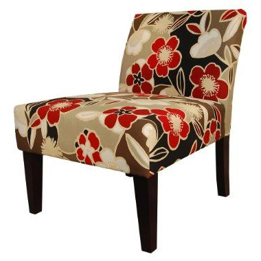 Armless Upholstered Slipper Chairs Regarding Well Known Avington Armless Slipper Chair – Red Floral : Target (View 11 of 30)