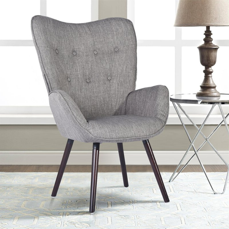 Armory Fabric Armchairs Within Trendy Channel Armchair (View 6 of 30)