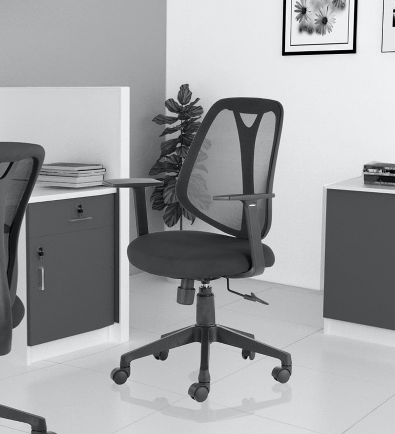 Artemi Barrel Chair And Ottoman Sets Pertaining To Well Known Artemis Ergonomic Chair In Black Colour (View 11 of 30)
