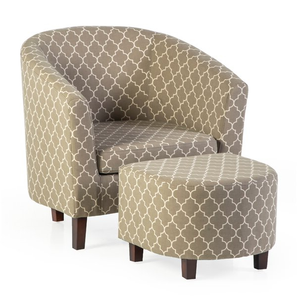 Featured Photo of Artemi Barrel Chair And Ottoman Sets