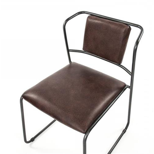 Artemi Barrel Chair And Ottoman Sets Within Current Artemis Mid Century Modern Industrial Rustic Iron Leather Dining Chair (View 29 of 30)