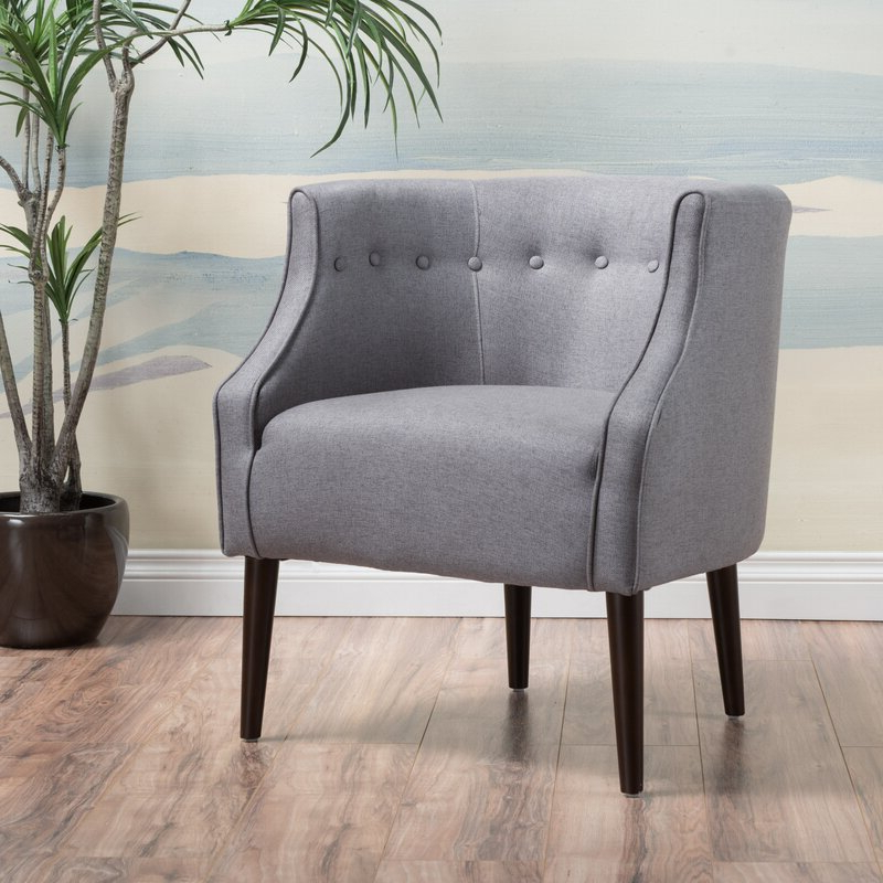 Barnard Polyester Barrel Chairs Pertaining To Trendy Stian (View 28 of 30)