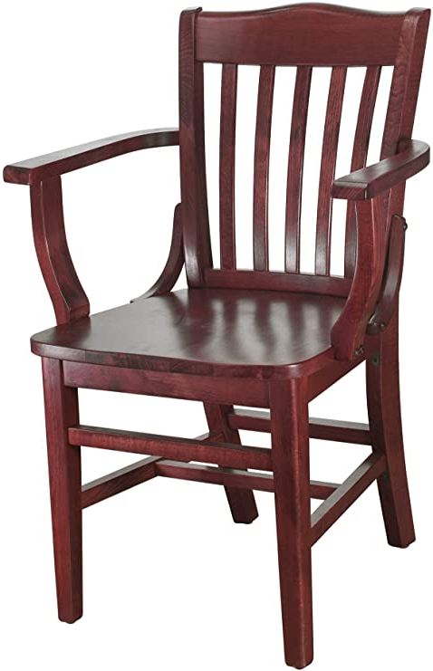 Beechwood Mountain Bsd 2a M Solid Beech Wood Arm Chair In Mahogany For Kitchen & Dining, Na For Recent Beachwood Arm Chairs (View 8 of 30)