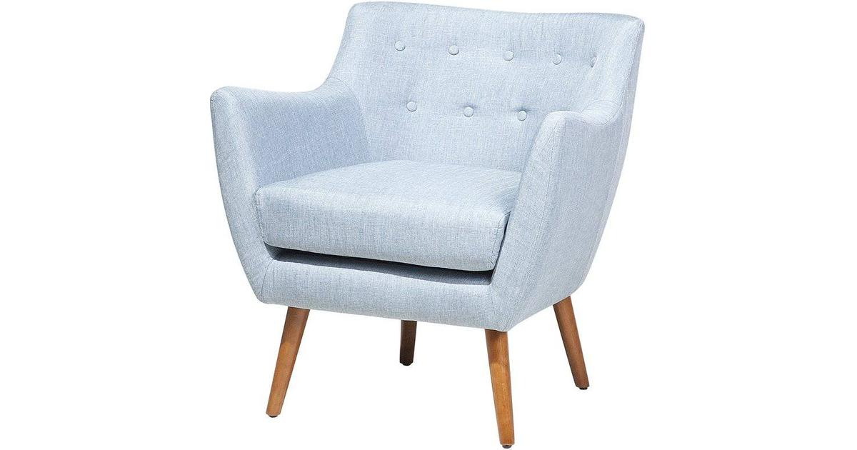 Beliani Drammen Polyester Armchair With Well Liked Leia Polyester Armchairs (View 23 of 30)