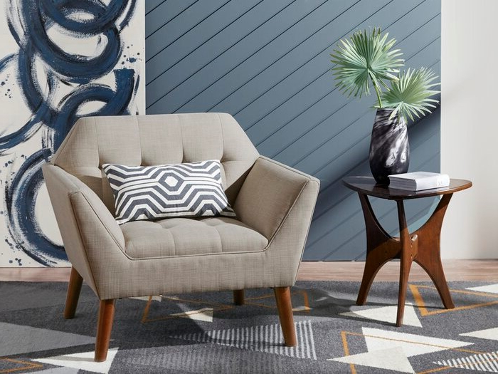 Belz Armchair Light Gray With Widely Used Belz Tufted Polyester Armchairs (View 8 of 30)