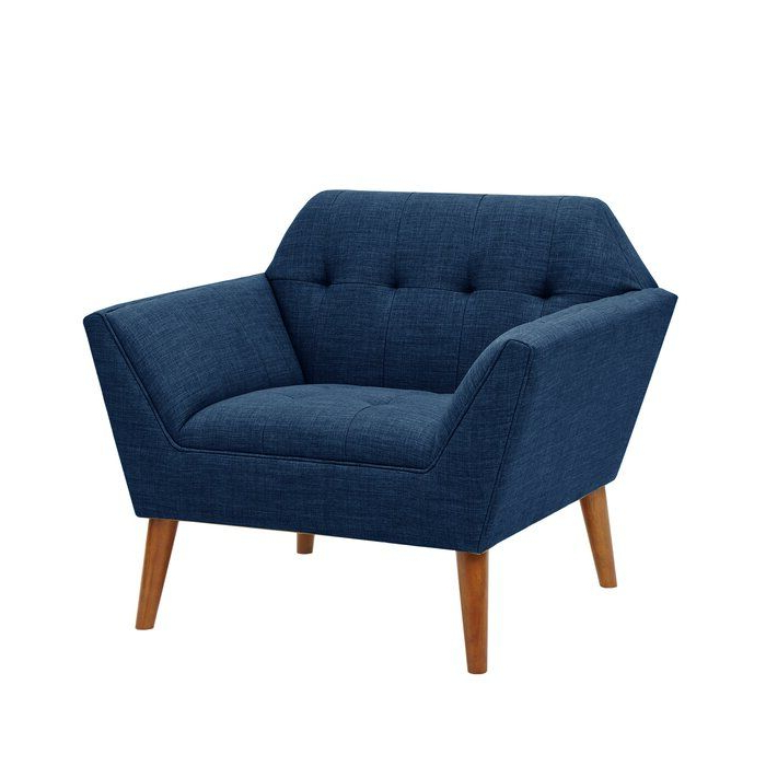 """Belz Tufted Polyester Armchairs Inside Fashionable Belz 38"""" W Tufted Polyester Armchair (View 5 of 30)"""