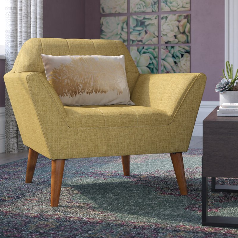 """Belz Tufted Polyester Armchairs Intended For Most Recently Released Belz 38"""" W Tufted Polyester Armchair (View 3 of 30)"""