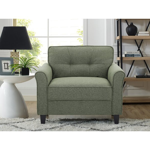 """Best And Newest 39"""" W Tufted Polyester Armchair Regarding Belz Tufted Polyester Armchairs (View 12 of 30)"""