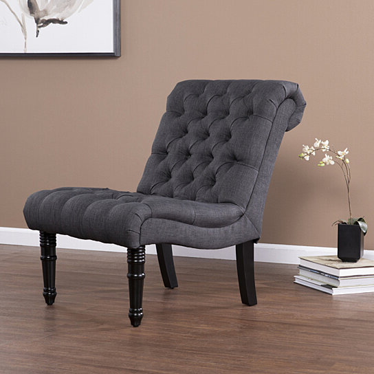 Best And Newest Armless Upholstered Slipper Chairs In Ashmire Armless Upholstered Accent Chair, Gray (View 16 of 30)