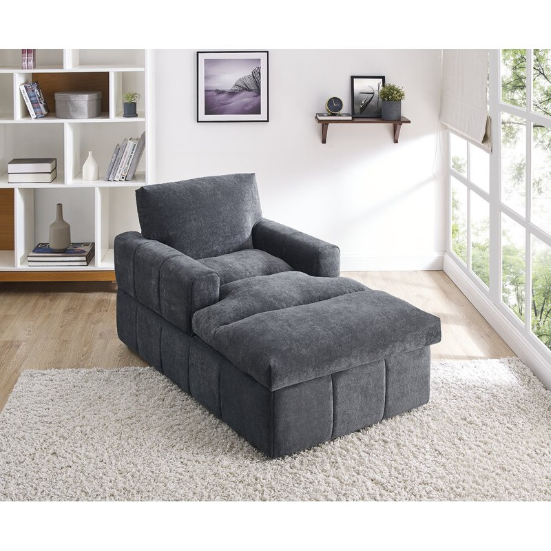 Best And Newest Caprisha Chaise Lounge Inside Annegret Faux Leather Barrel Chair And Ottoman Sets (View 22 of 30)
