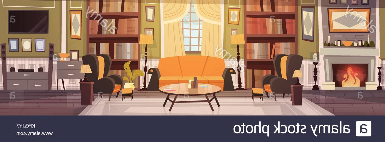 Best And Newest Cozy Living Room Interior Design With Furniture, Sofa, Table For Live It Cozy Armchairs (View 25 of 30)