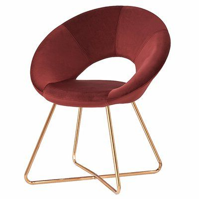 Best And Newest Focht Armchairs Throughout Mercer41 Focht Armchair Upholstery Color: Rust Red In (View 13 of 30)