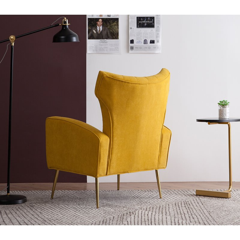 Best And Newest Lauretta Wingback Chair Intended For Lauretta Velvet Wingback Chairs (View 16 of 30)