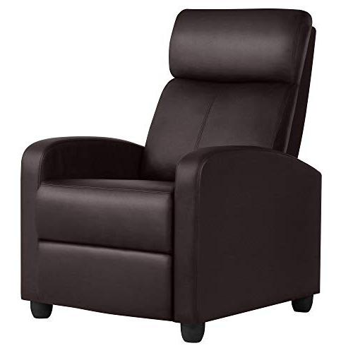 Best And Newest Montenegro Faux Leather Club Chairs Regarding Yaheetech Recliner Chair Faux Leather Recliner Sofa (View 15 of 30)