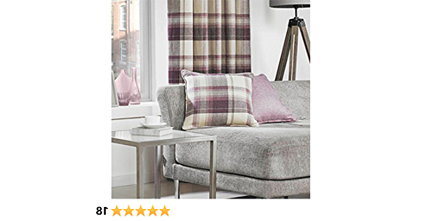 Biggerstaff Polyester Blend Armchairs With Regard To Well Known Just Contempo Tartan Wool Like Curtains And Cushions: Amazon (View 26 of 30)