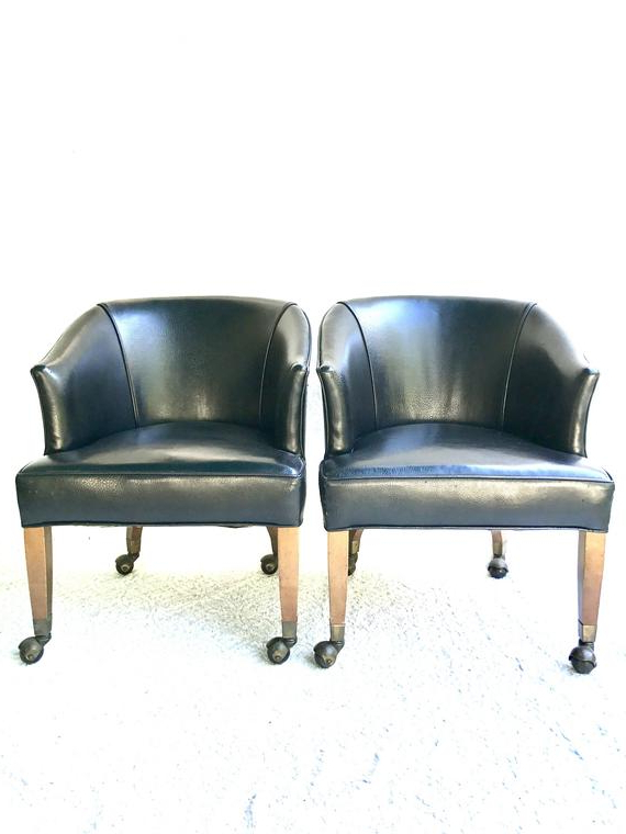 Black Faux Leather Arm Chairs (View 10 of 30)