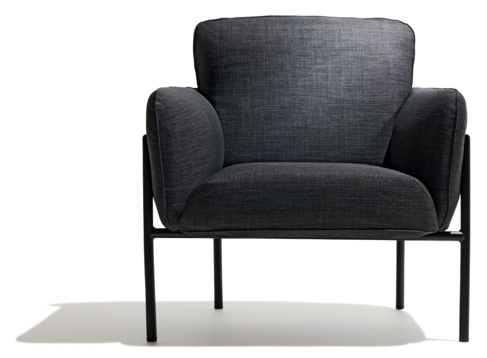 Black Lounge Chair, Modern Lounge Chairs In Biggerstaff Polyester Blend Armchairs (View 15 of 30)