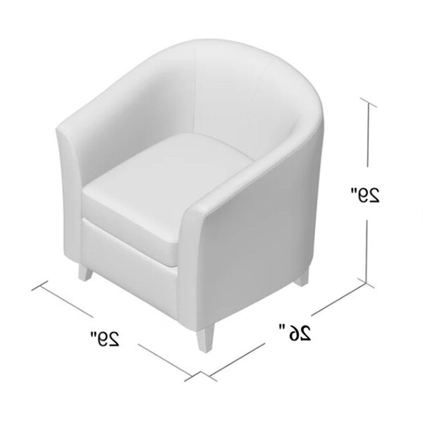 Blaithin Simple Single Barrel Chair Pertaining To Newest Blaithin Simple Single Barrel Chairs (View 3 of 30)