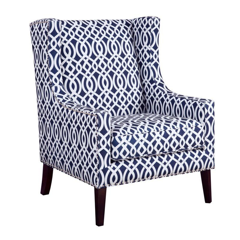 Blue Accent Chairs, Wing Chair Intended For Most Up To Date Chagnon Wingback Chairs (View 15 of 30)