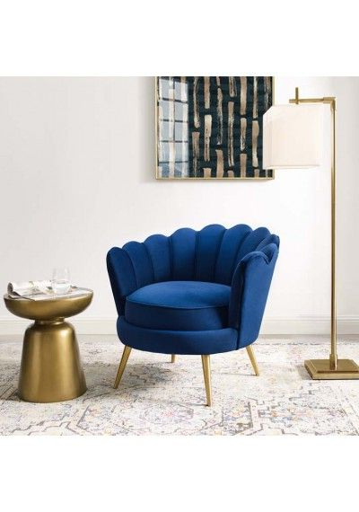 Blue Velvet For Current Hutchinsen Polyester Blend Armchairs (View 23 of 30)