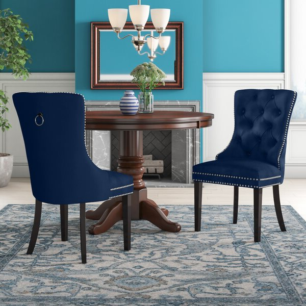Bob Stripe Upholstered Dining Chairs (set Of 2) Regarding Most Recent Turquoise Dining Chair (View 13 of 30)