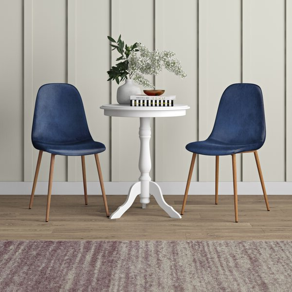 Bob Stripe Upholstered Dining Chairs (set Of 2) With Well Liked Blue Dining Chairs (View 12 of 30)