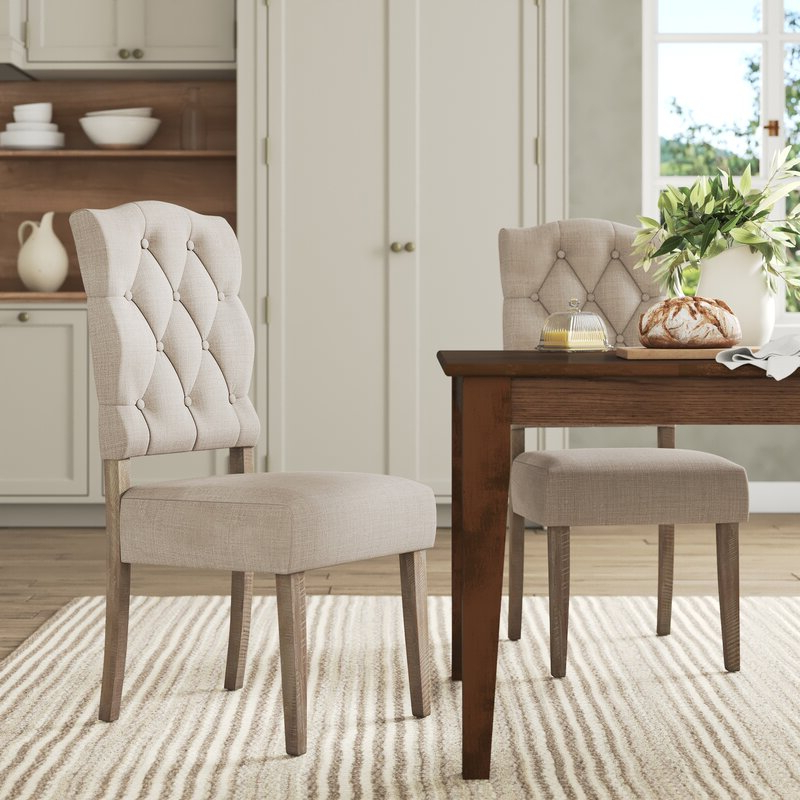 Bob Stripe Upholstered Dining Chairs (set Of 2) Within Newest Fahey Upholstered Dining Chair (View 22 of 30)