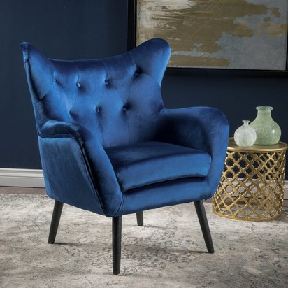 Bouck Wingback Chair – Navy Blue – Blueprint Within Famous Bouck Wingback Chairs (View 10 of 30)