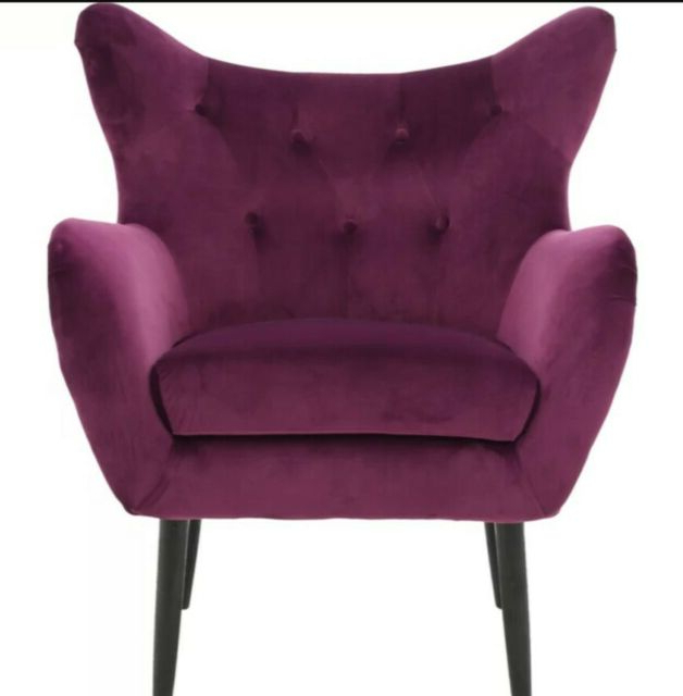 "Bouck Wingback Chairs For Most Recent Bouck 21"" Wingback Accent Chairwilla Arlo Interiors Wayfair – Purple (View 12 of 30)"