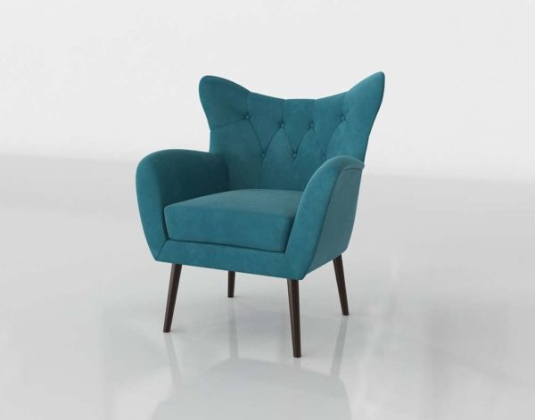 Bouck Wingback Chairs With Regard To Most Popular 3d Bouck Wingback Chair Wayfair // Glancing Eye (View 14 of 30)