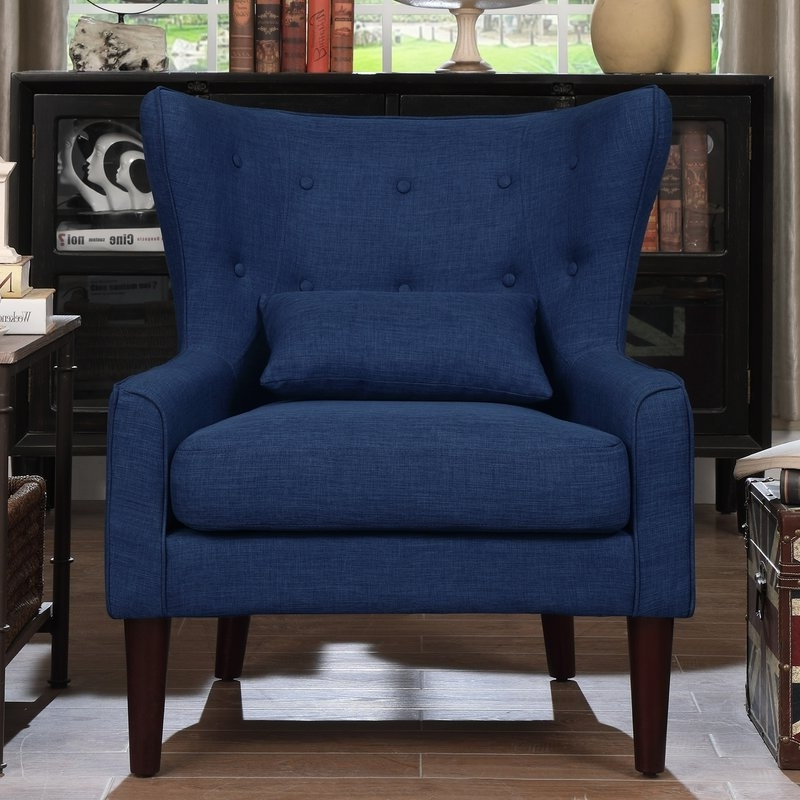 Bouck Wingback Chairs With Regard To Most Recently Released Navy Blue Accent Chair You'll Love In 2021 – Visualhunt (View 25 of 30)