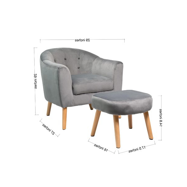 Brames Barrel Chair And Ottoman Sets Intended For 2019 Rockridge Hansel Barrel Chair And Ottoman (View 11 of 30)