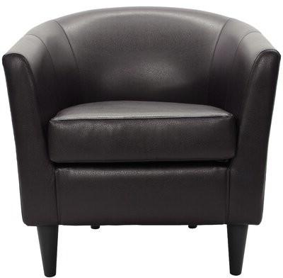 Briseno Barrel Chairs Within Recent Zipcode Designtm Gaynell Barrel Chair Zipcode Design Fabric: Dark Brown (View 28 of 30)